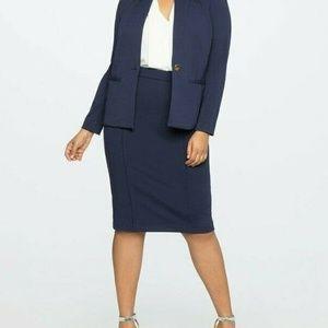 Eloquii Women's Skirt Pencil Pull On Stretch Work